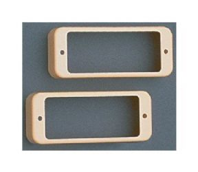 Mini Humbucker Pickup Ring Set (2pcs) Cream PC-0747-028